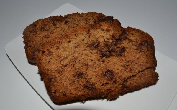 Banana and chocolate chip loaf