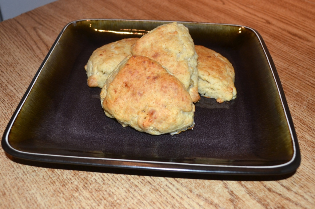 White chocolate pepper scones
